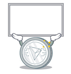 Up board tron coin character cartoon vector