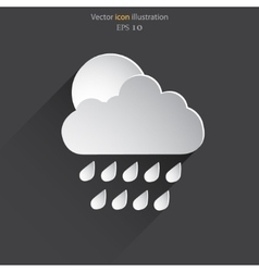 weather web flat icon vector image vector image