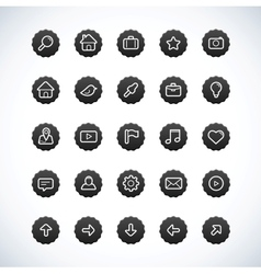 web ui icon set vector image