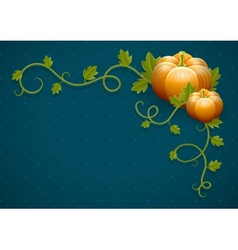 Pumpkin vegetable with green vector