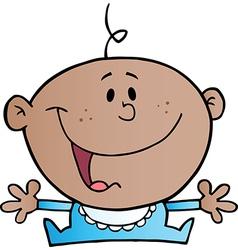 Happy African American Baby Boy vector image