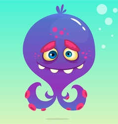 Cute cartoon octopus vector