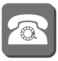 Pulse phone rounded square icon vector