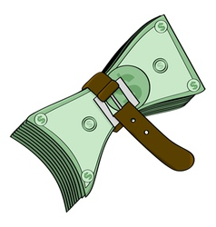 Tight money vector image