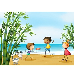 Cartoon playing kids vector