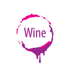 Wine logo imprint vector