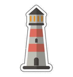 Cartoon lighthouse guide sea vector