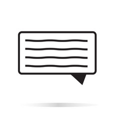 message icon on white background message sign vector image