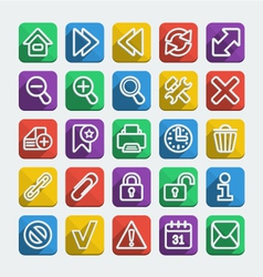Long Shadows Flat Icons Set vector image
