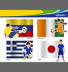 Soccer football players brazil 2014 group c vector