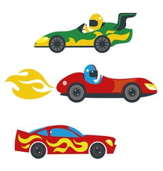 Race cars set vector