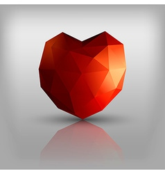 Polygon heart vector