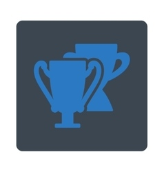 Trophy cups icon from award buttons overcolor set vector