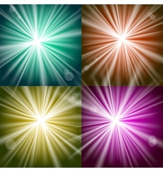 Lights and flashes vector image