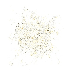 Golden glitter shine texture on a white background vector