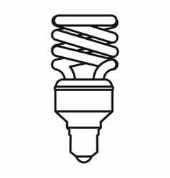 Energy saving bulb icon outline style vector