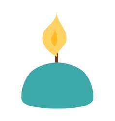 Candle icon isolated vector