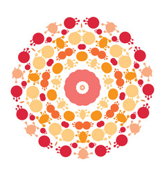 Abstract circle mandala vector