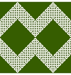 Asian or celtic knot seamless border or pattern vector