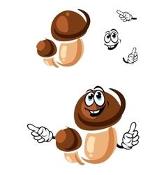 Autumn boletus mushroom cartoon character vector