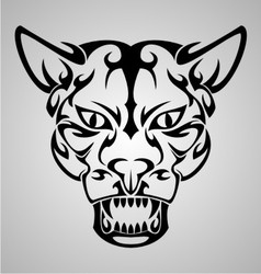 Big Cat Face Tribal vector image vector image