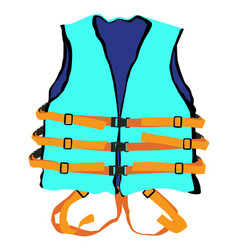 Blue life jacket vector