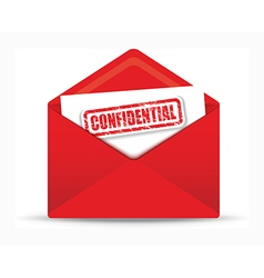 confidential red envelope vector image vector image
