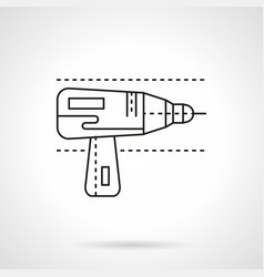 Drill for metal flat line icon vector