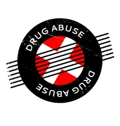 Drug abuse rubber stamp vector