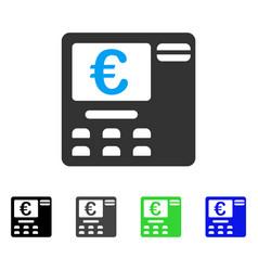 Euro atm flat icon vector
