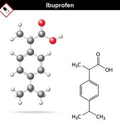 Ibuprofen molecular chemical structure vector