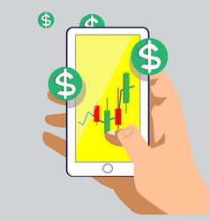 in my phone vatical dollar game vector image vector image