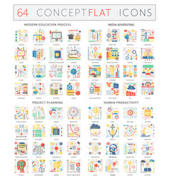 Infographics concept icons of modern education vector