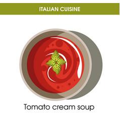 Italian cuisine tomato cream soup icon for vector