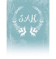 Laurel Wreath and Sale vector image vector image