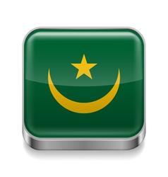 Metal icon of mauritania vector
