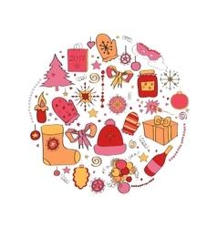 set Christmas symbols the vector image vector image