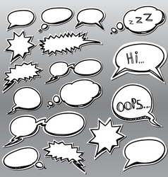 Set of comic style talk clouds vector image vector image