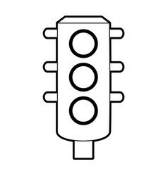 Sketch silhouette image traffic light element of vector