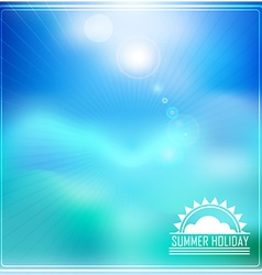 Summer holidays with logo vector