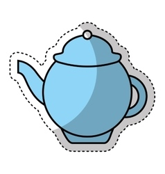 Tea pot isolated icon vector