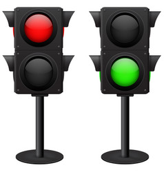 traffic light stand red and green vector image vector image