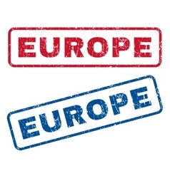Europe rubber stamps vector