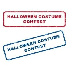 Halloween costume contest rubber stamps vector