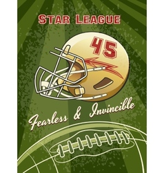 Star league graphic with helmet and football vector
