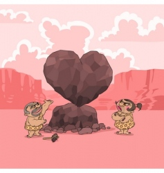 Valentines day stone age vector