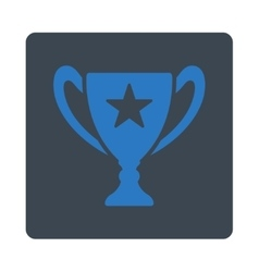 Trophy icon from award buttons overcolor set vector