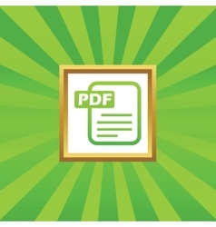 Pdf file picture icon vector