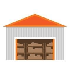 Warehouse flat icon vector