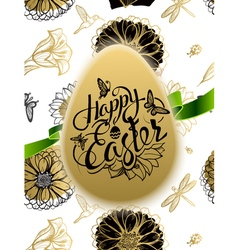 Happy Easter Sign symbol logo on background vector image